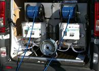 Limpieza con agua pura, nuestra furgona equipada