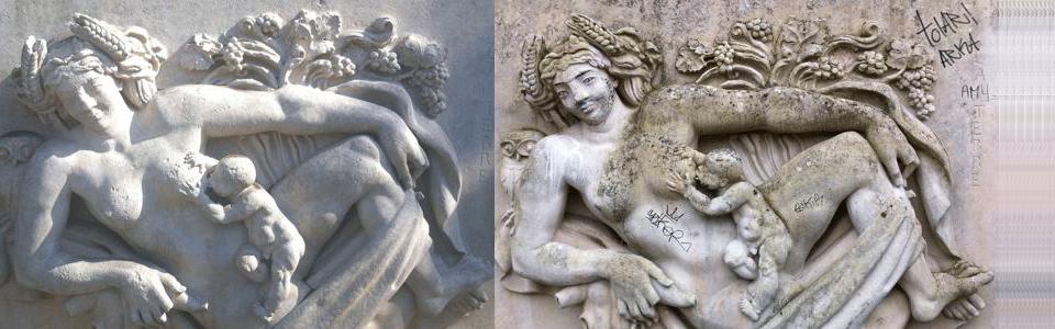 Limpieza de estatuas